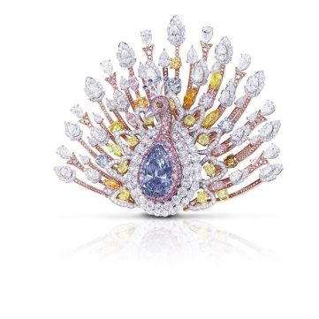 Graff diamond peacock brooch