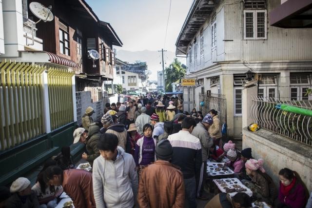 ruby market in Myanmar