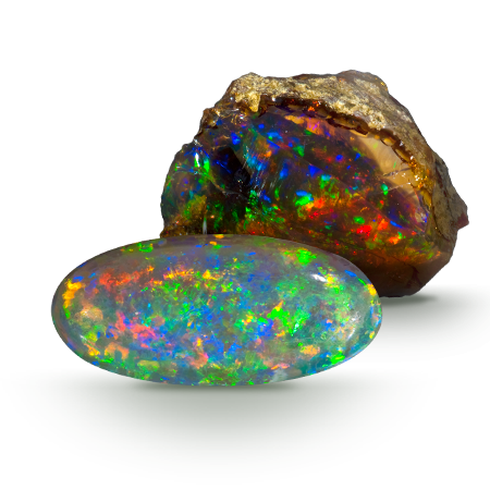 Rough & Faceted Opal