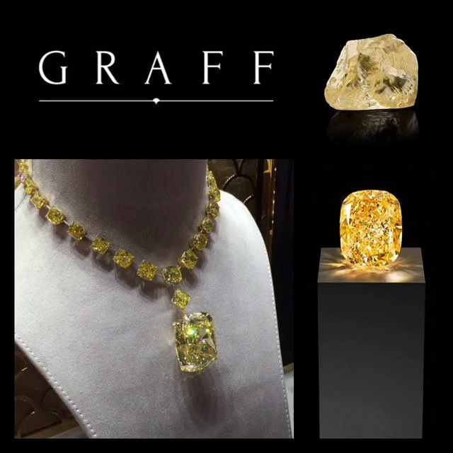 Graff is famous for 132.55 carats fancy yellow diamonds