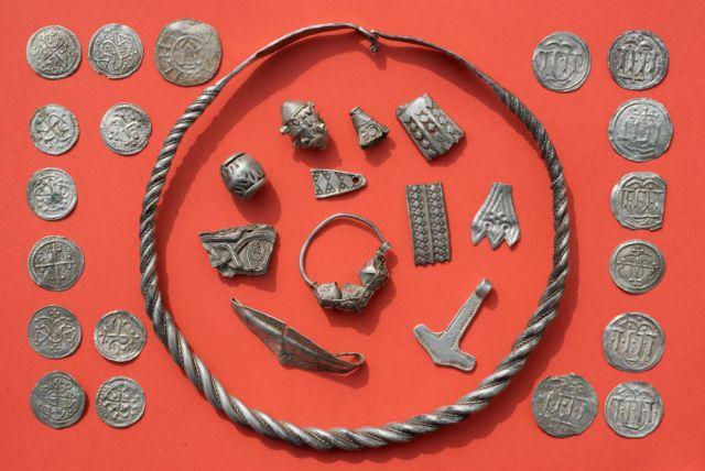 the silver treasure of the Danish King Harald Bluetooth